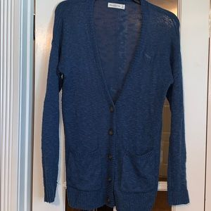 Abercrombie & Fitch Blue sweater cardigan